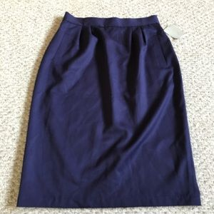 NWT vintage wool skirt with pockets